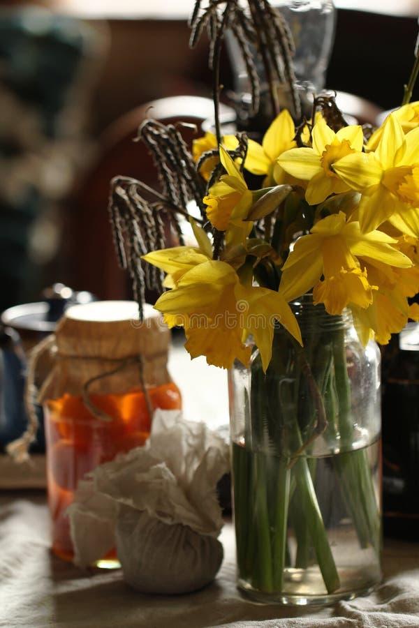 Download Daffodils In Retro Interior Stock Photo - Image: 30472910