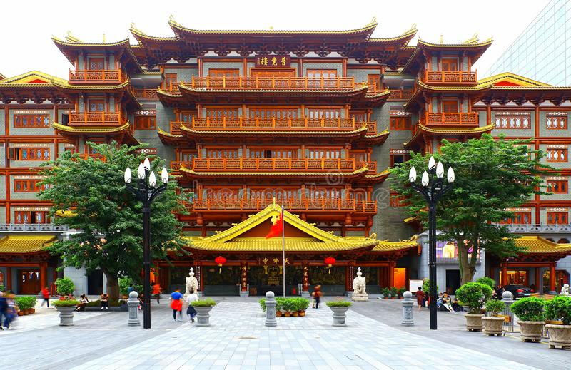 Dafo temple or the grand buddha temple at guangzhou, china stock photo