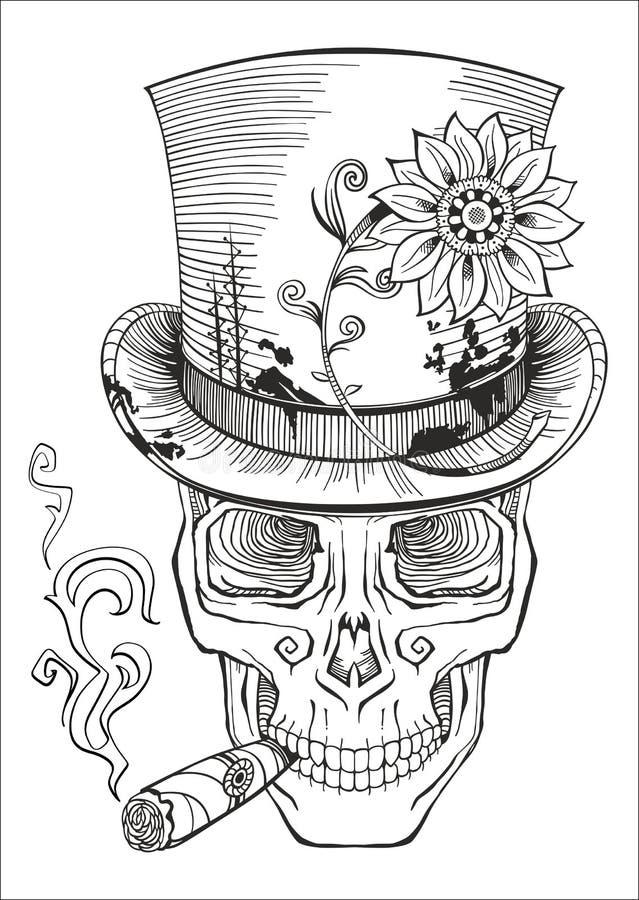 Dag av dödaen, baronsamediteckning royaltyfri illustrationer