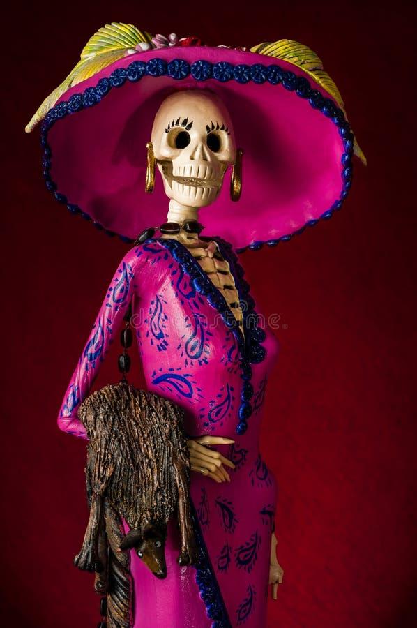 Dag av dödaen. Traditionell mexikansk catrina royaltyfri bild