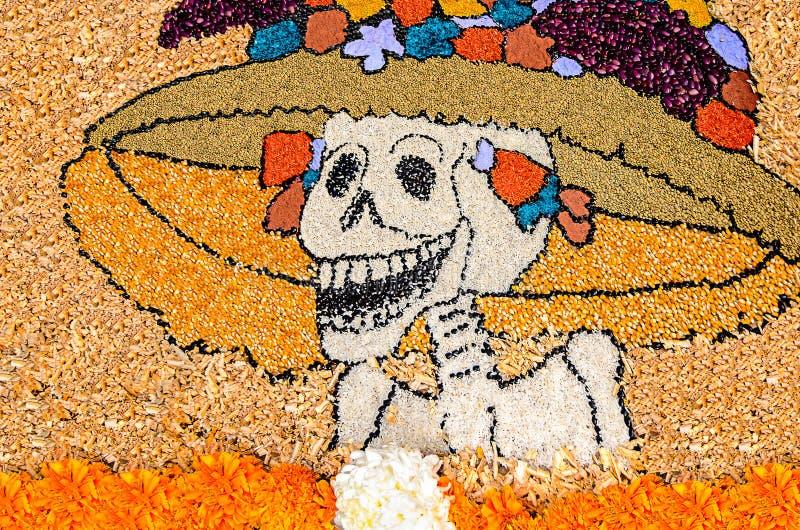 Dag av den döda mexikanska catrinaen arkivfoton