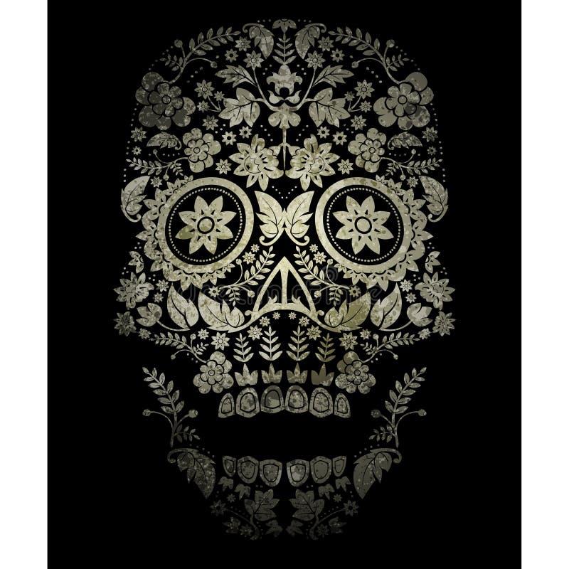 dag av den döda skallen royaltyfri illustrationer