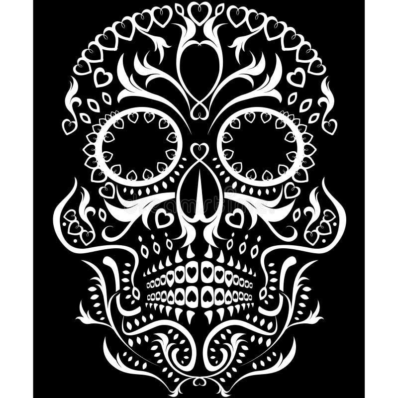 dag av den döda skallen vektor illustrationer