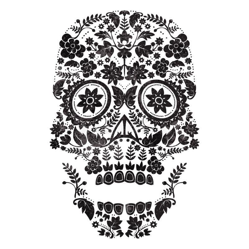 dag av den döda skallen stock illustrationer