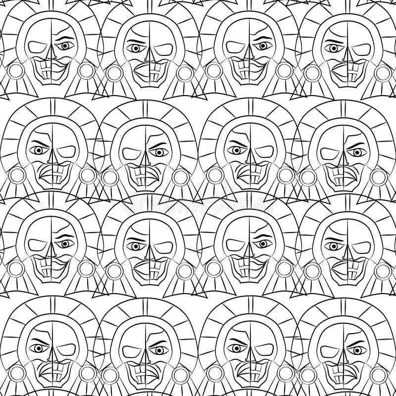 Dag av den döda Sugar Skull Seamless modellen, stock illustrationer
