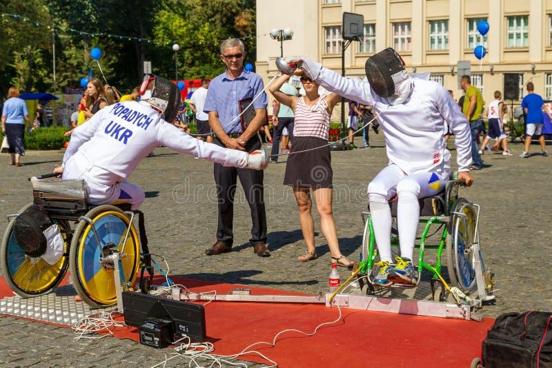 Dag av fysiska kultur och sportar i Uzhgorod fotografering för bildbyråer