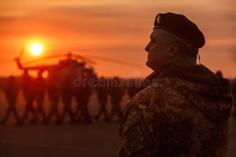 Dag av sjö- infanteri i Ukraina royaltyfria bilder