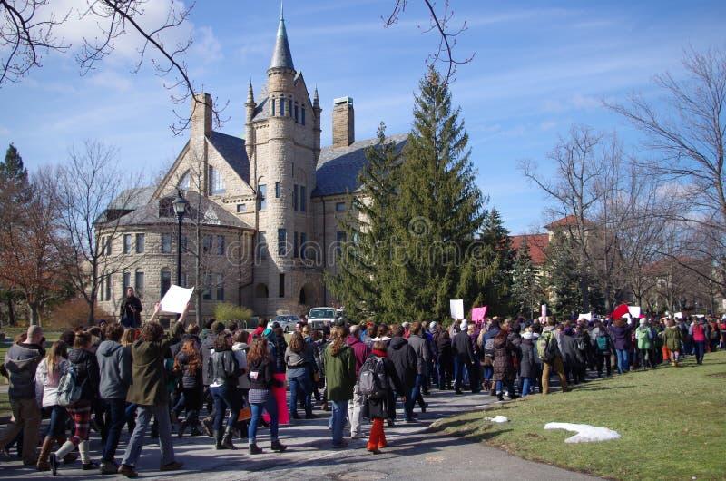 Dag av solidaritet på den Oberlin högskolan royaltyfri bild