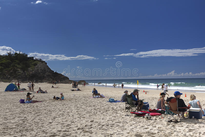 Dag bij het strand stock fotografie