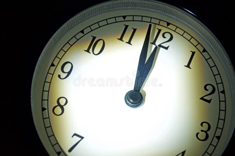 Dag des oordeelsklok, Twee Minuten Till Midnight stock foto's