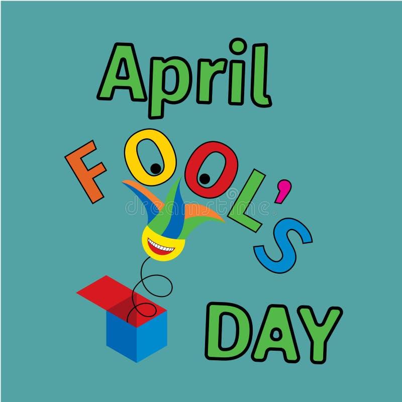 Dag för April dumbom s, typografi stock illustrationer