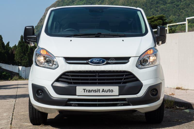Dag för Ford Transit Auto 2017 provdrev arkivfoto