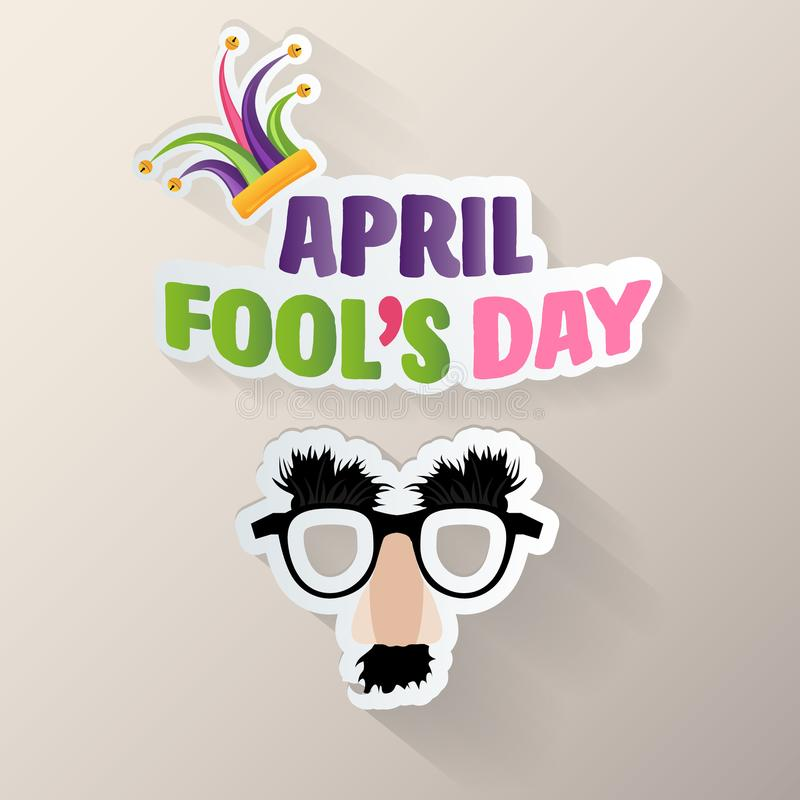 Dag för s för April dumbom ``, typografi, färgrik designmall, illustration vektor illustrationer