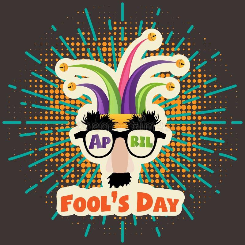 Dag för ` s för April dumbom, typografi, färgrik designmall, illustration royaltyfri illustrationer