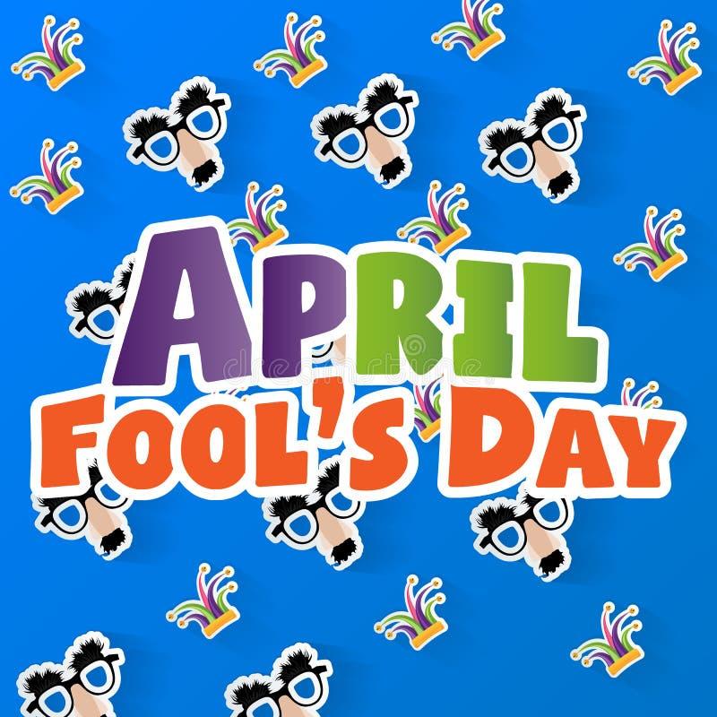 Dag för ` s för April dumbom, typografi, färgrik designmall, illustration stock illustrationer