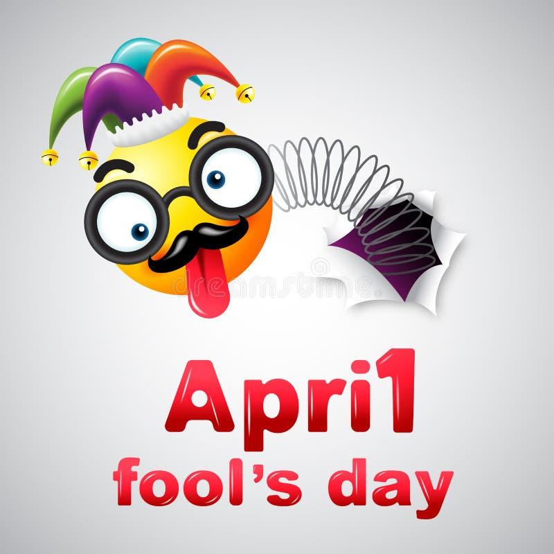 Dag för ` s för April dumbom, typografi, färgrik designmall, vektor royaltyfri illustrationer