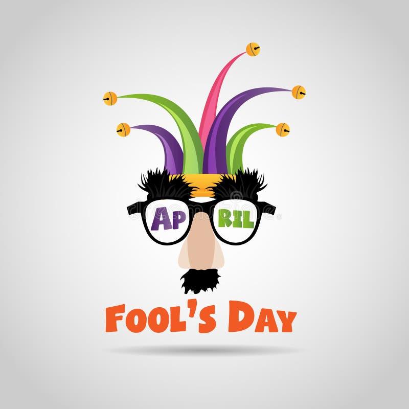 Dag för s för April dumbom ``, typografi som är färgrik, illustration royaltyfri illustrationer