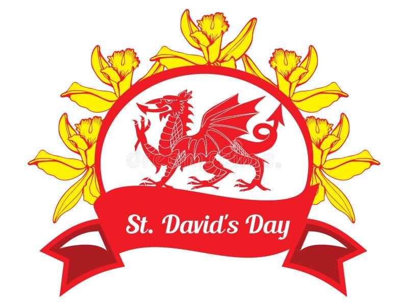 Dag för St Davids vektor illustrationer