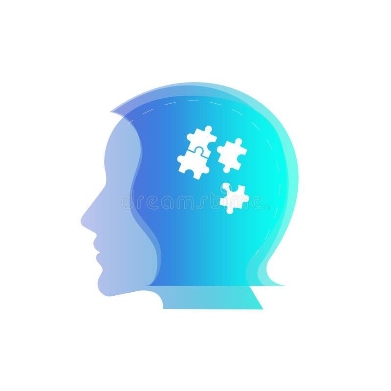 Dag för symbolsvektorhjärna abstrakt vektorillustration Begreppsmentala hälsor för kvinnor Sjukhus Illustration av psykologivärld vektor illustrationer