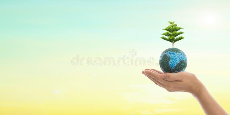 Dag för världsmiljö och gräsplanbegrepp royaltyfri bild