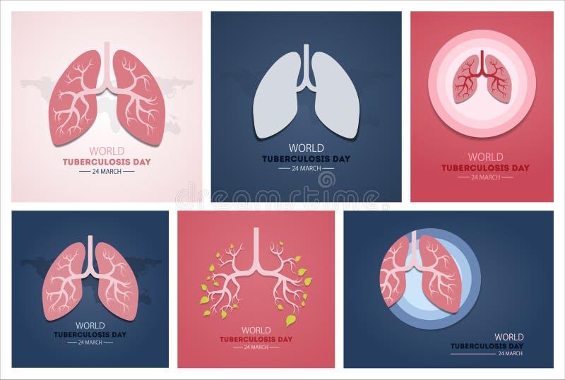 Dag för världstuberkulos royaltyfri illustrationer