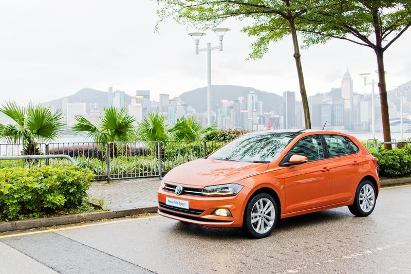 Dag för Volkswagen Polo 2018 provdrev arkivfoto