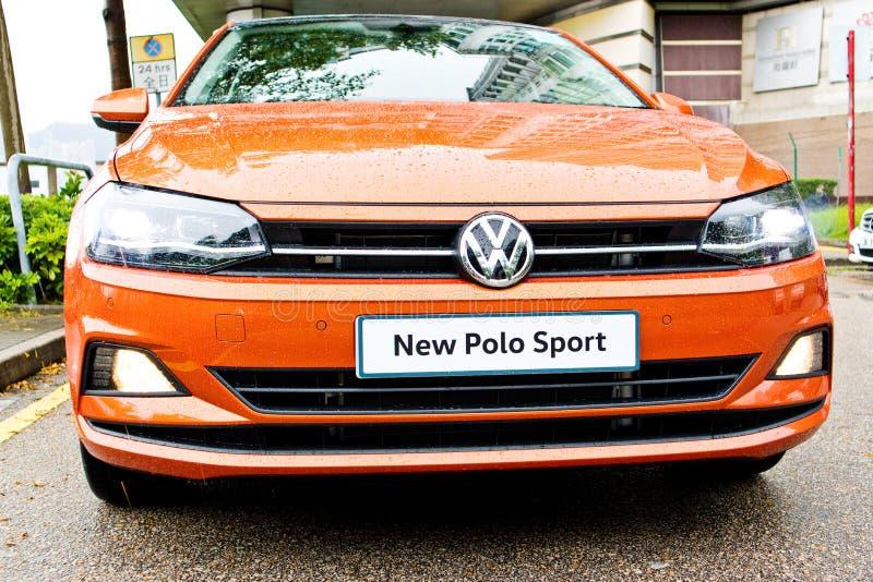 Dag för Volkswagen Polo 2018 provdrev royaltyfri fotografi