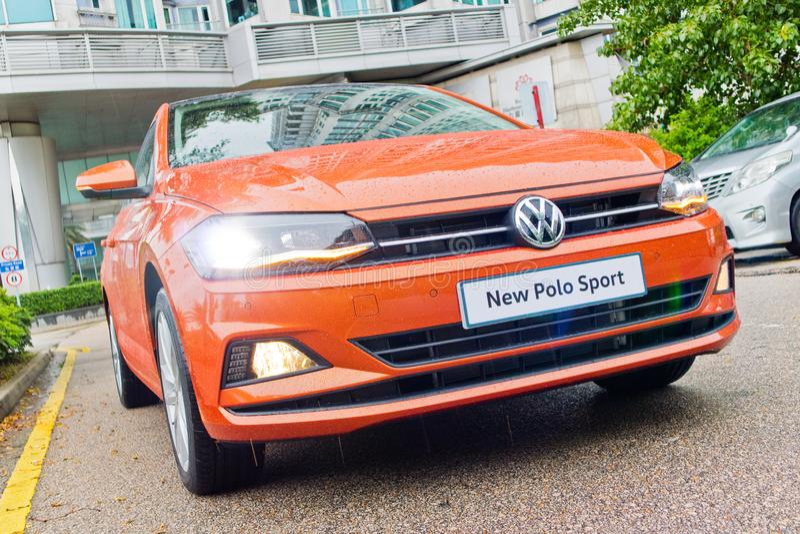 Dag för Volkswagen Polo 2018 provdrev royaltyfria bilder