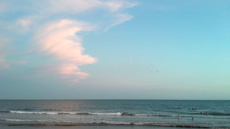 Dag in het strand royalty-vrije stock afbeeldingen