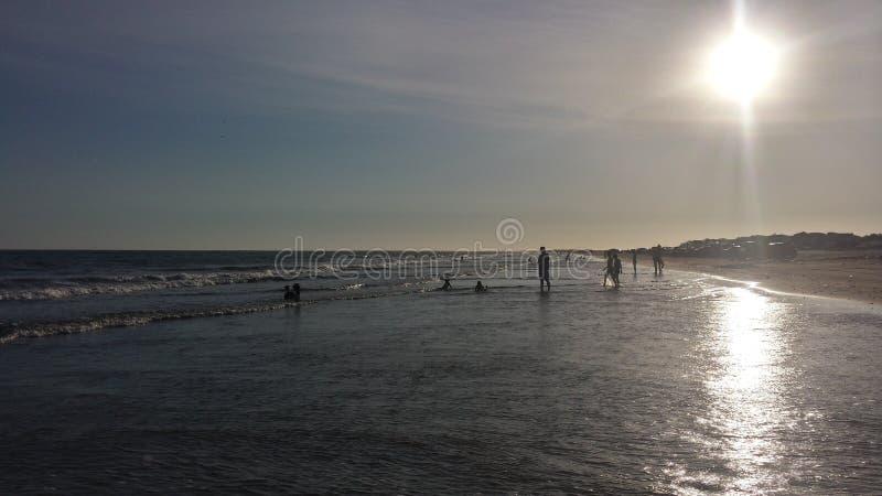 Dag in het strand stock foto