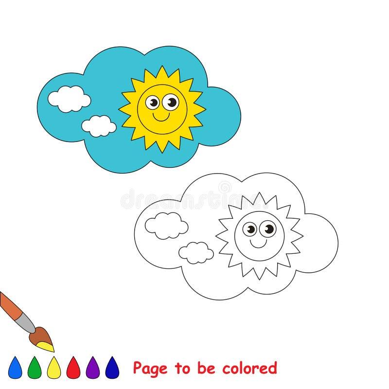 Dag i vektortecknade filmen som ska färgas vektor illustrationer