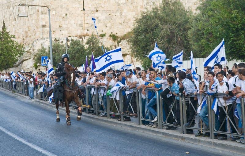 dag jerusalem arkivbild