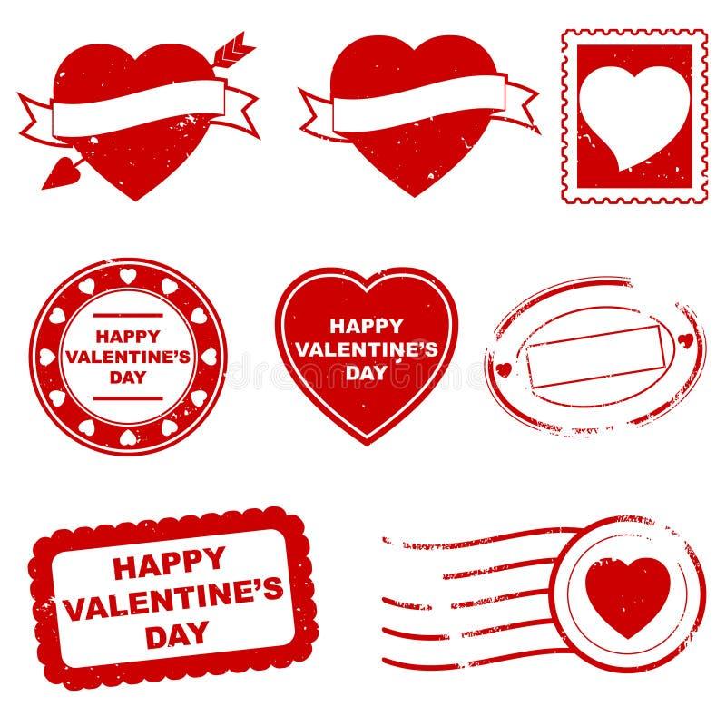 dag s stämplar valentinen royaltyfri illustrationer