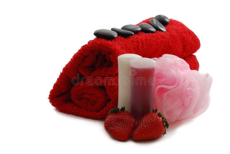 dag smaksatt för brunnsortjordgubbe för romantiker set valentin royaltyfria bilder