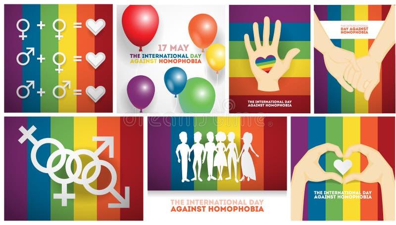 Dag tegen homophobia stock illustratie