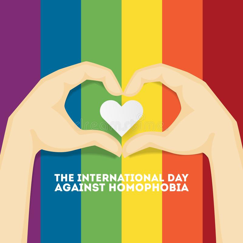 Dag tegen homophobia royalty-vrije illustratie