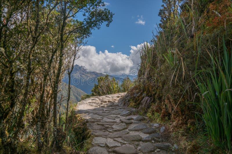 Dag tre av Inca Trail Trek till Machu Picchu royaltyfria foton