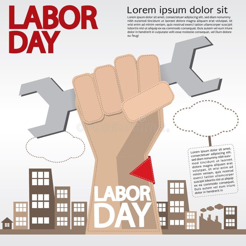Dag van de Arbeid. stock illustratie