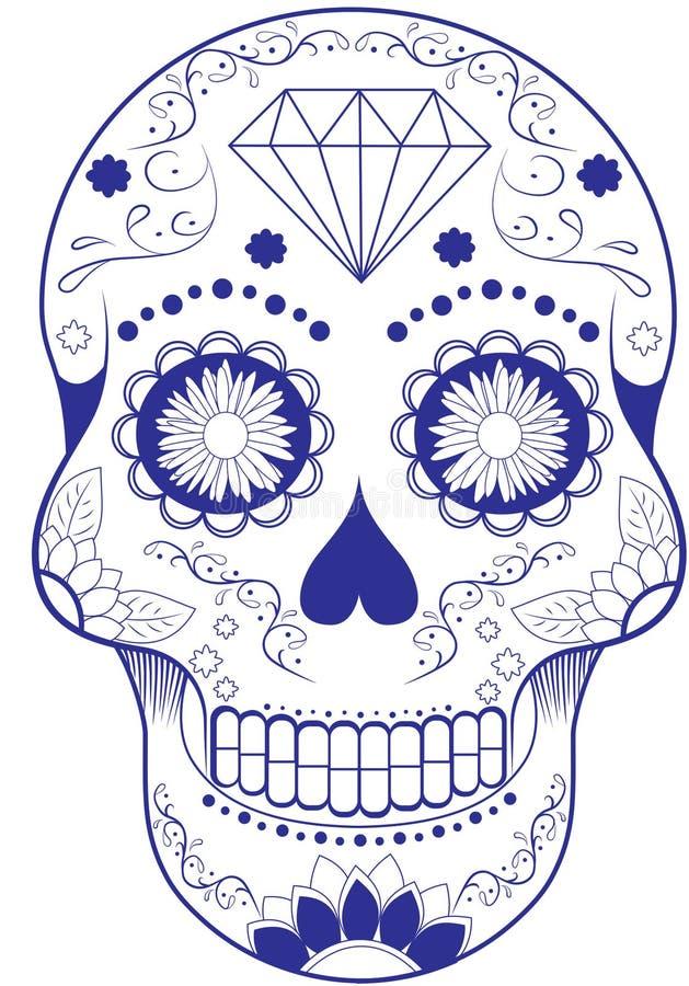 Dag van de dode schedel stock foto