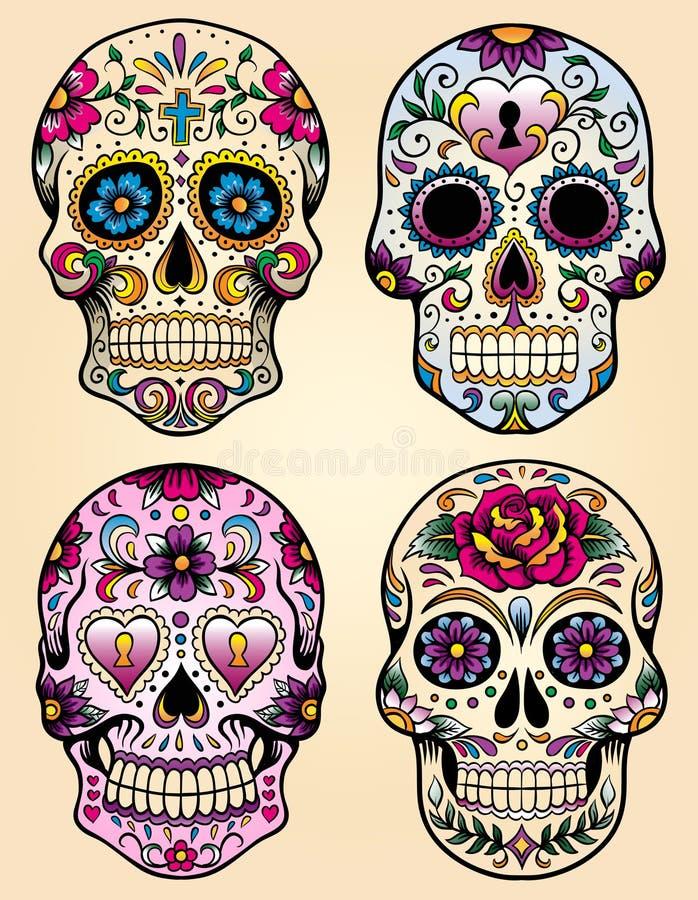 Dag van de dode vectorillustratiereeks stock illustratie