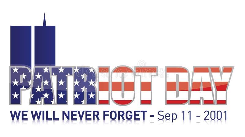 Dag van de patriot/september 11 stock illustratie