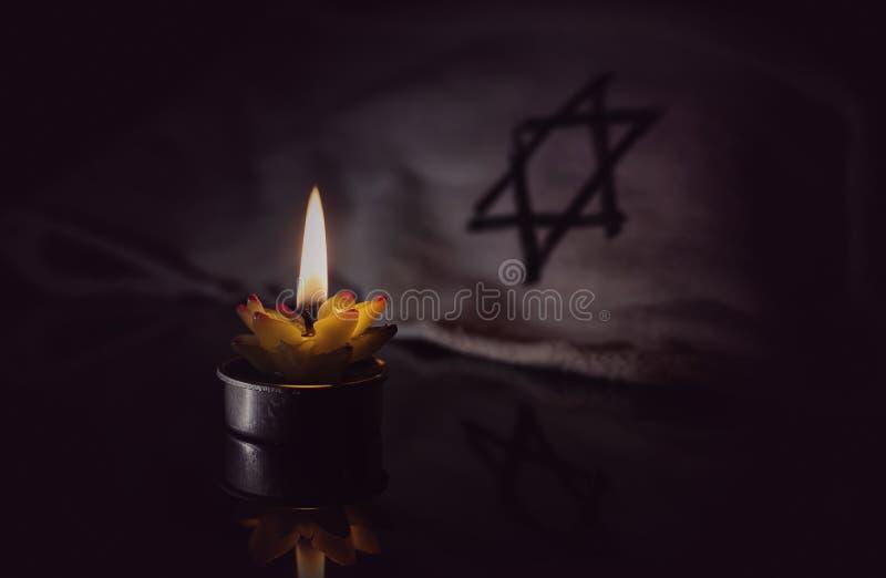 Dag van geheugen van slachtoffers van de Holocaust royalty-vrije stock fotografie