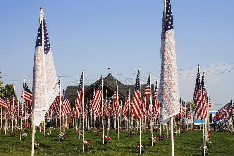 De vlaggen van het geheugen royalty-vrije stock afbeeldingen