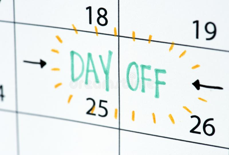 Dag van het programma van de kalenderherinnering royalty-vrije stock foto