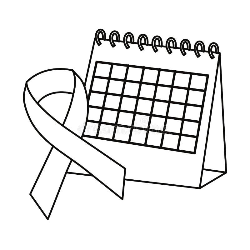 Dag van Movember prostate kanker stock illustratie