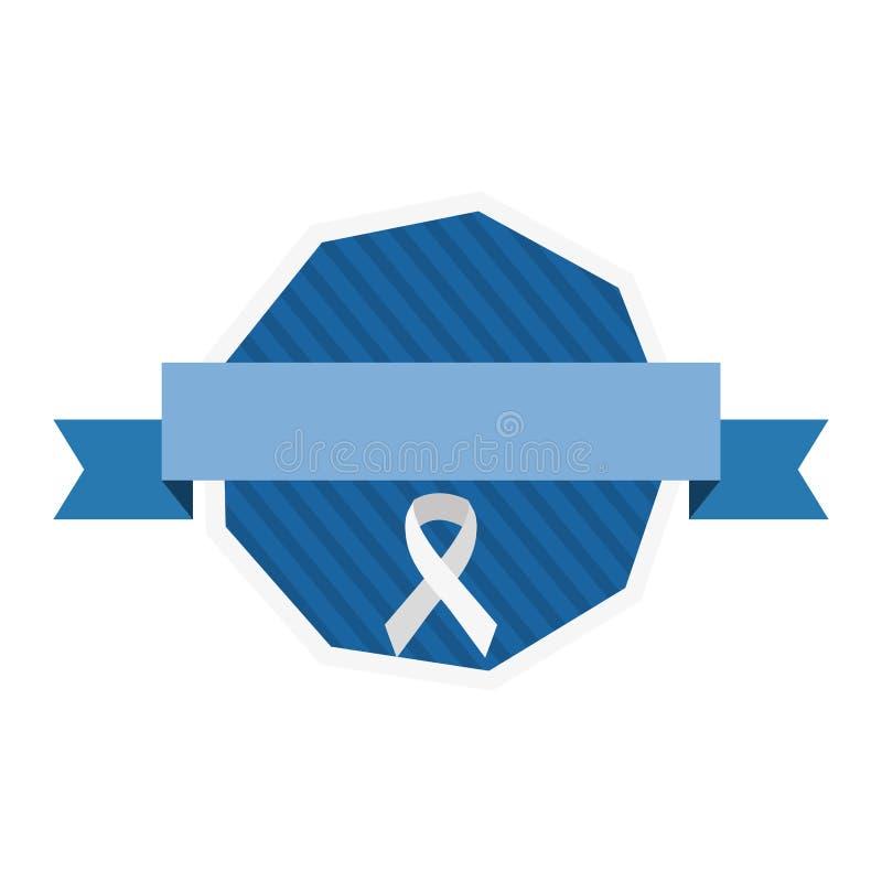 Dag van Movember prostate kanker vector illustratie