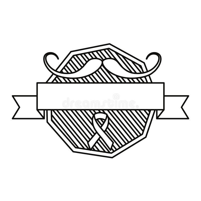 Dag van Movember prostate kanker royalty-vrije illustratie