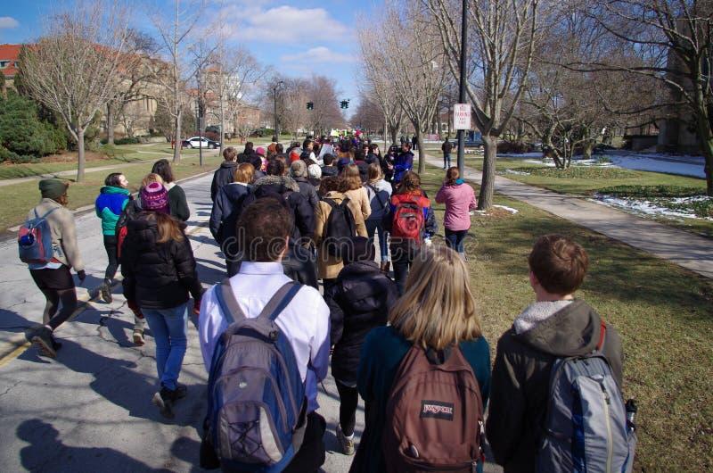 Dag van Solidariteit bij Universiteit Oberlin stock foto