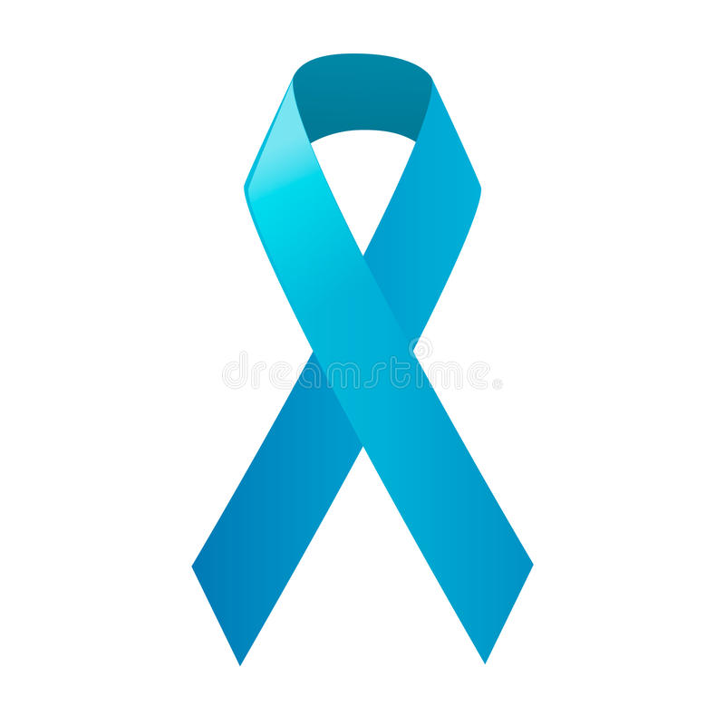 Dag van wereld Prostate Kanker Voorlichtings Blauw Lint royalty-vrije illustratie