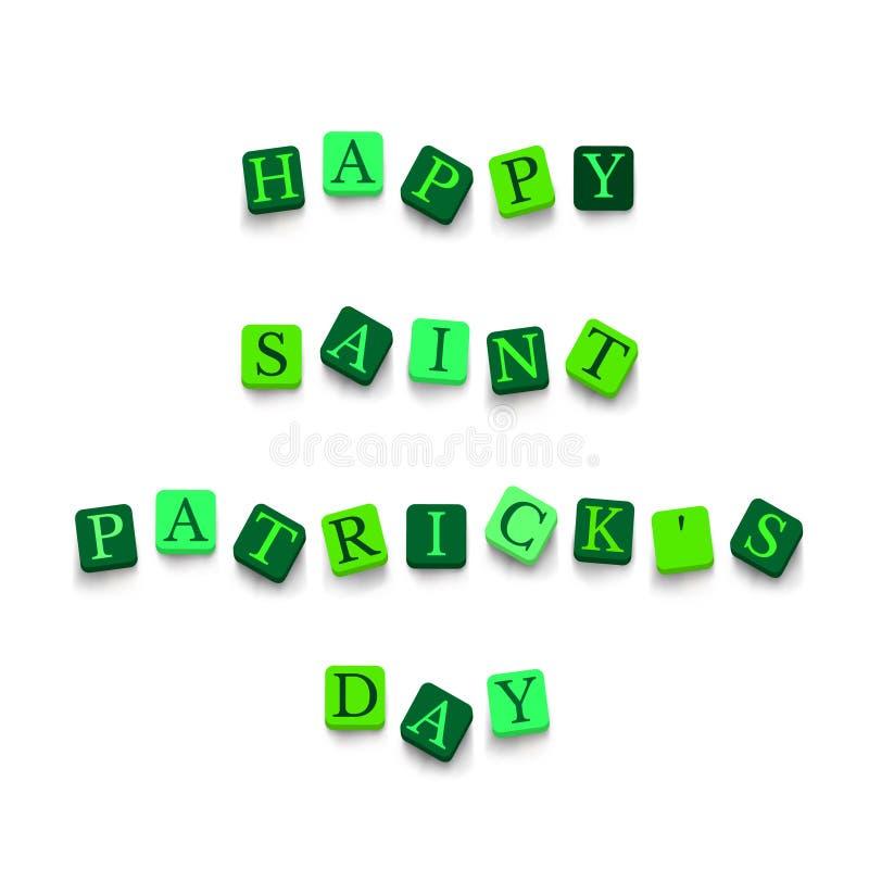 Dag van woorden de Gelukkige Heilige Patricks stock illustratie